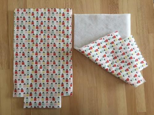 1 thermocoller le sac à gouter avec la ouatine patchwork