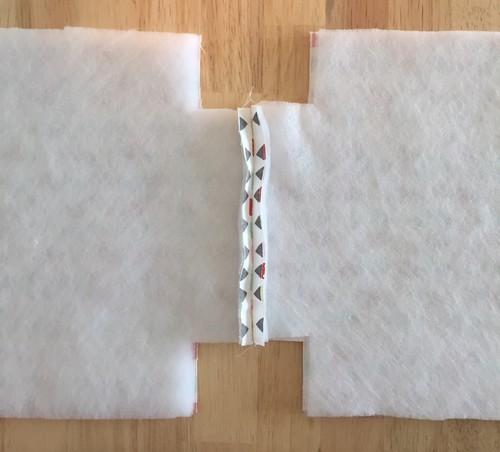 2 assembler le fond du sac a gouter