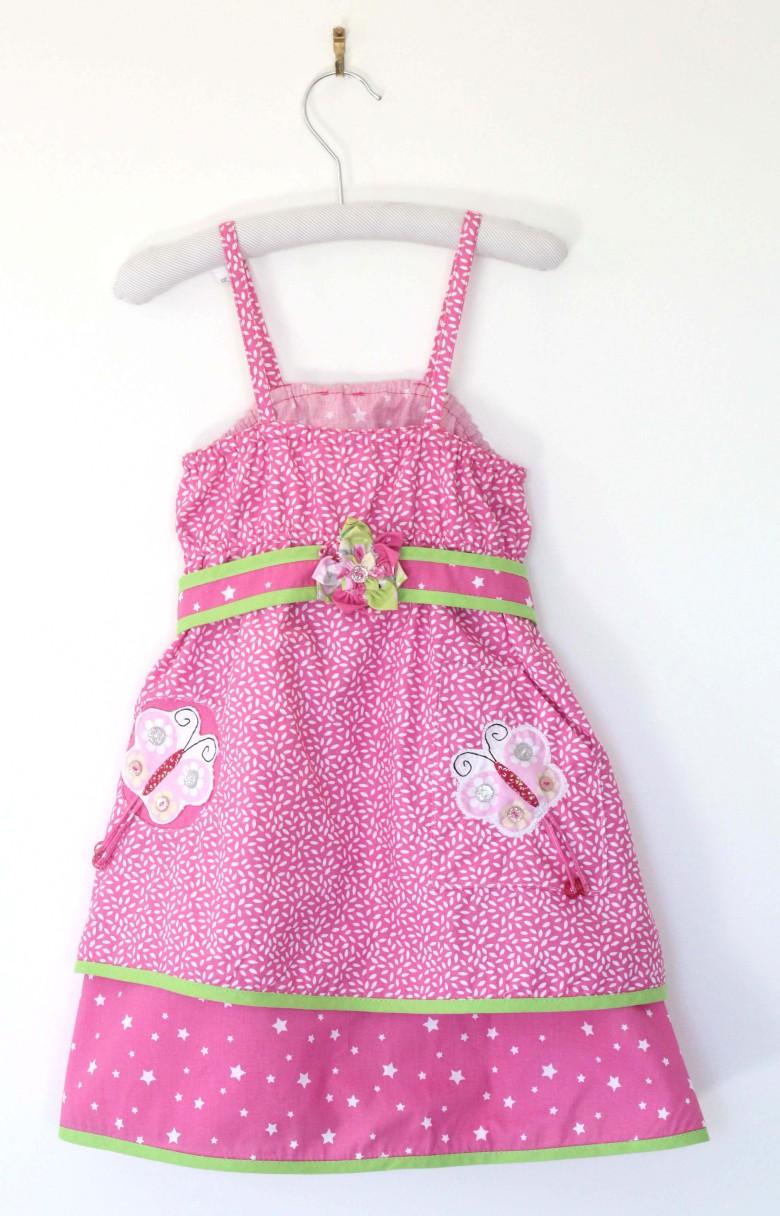 robe enfant tissu rose mix and match