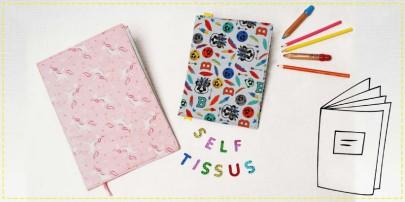 tuto protège-cahiers en tissu