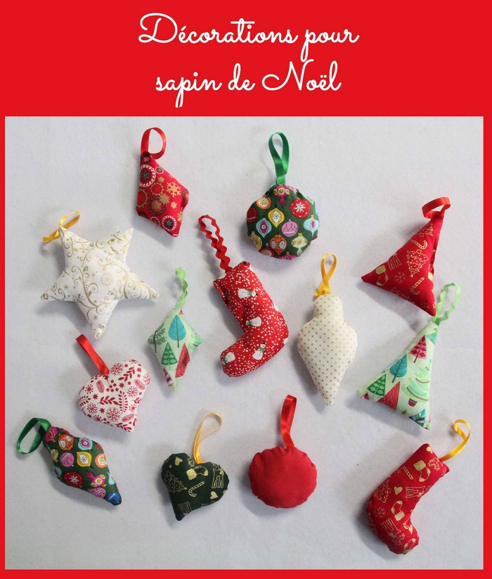 Decorations pour sapin de Noel