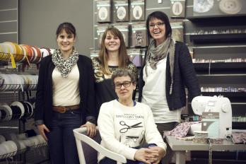 L'équipe du magasin Self Tissus Ancenis