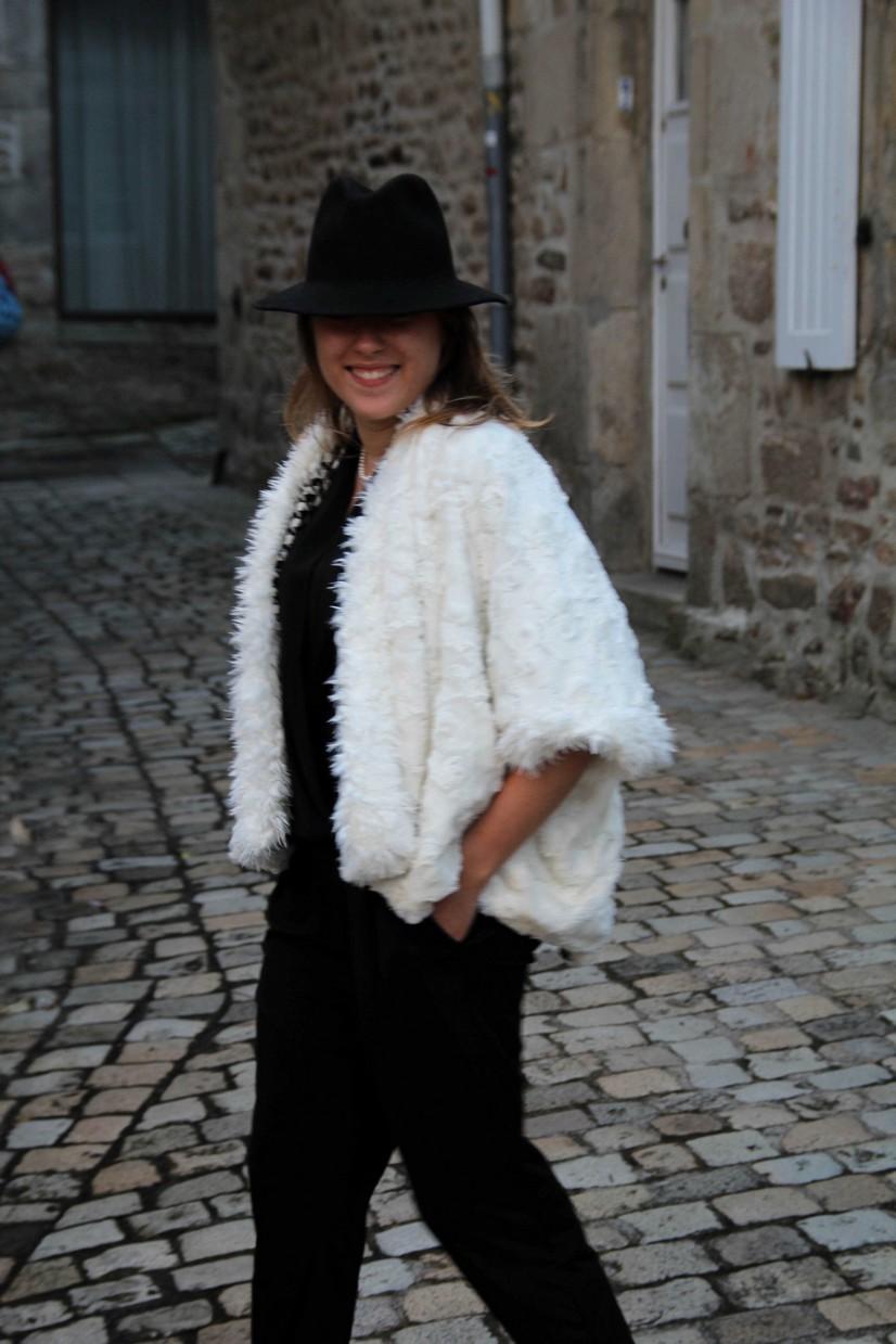 veste en fourrure doublée
