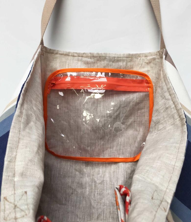 poches transparente sac de plage