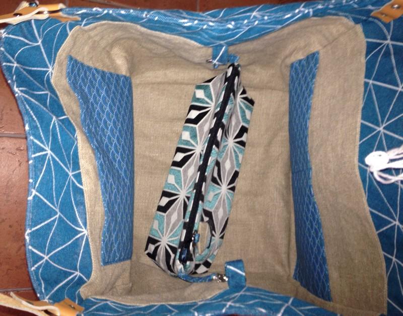 sac carré en lin