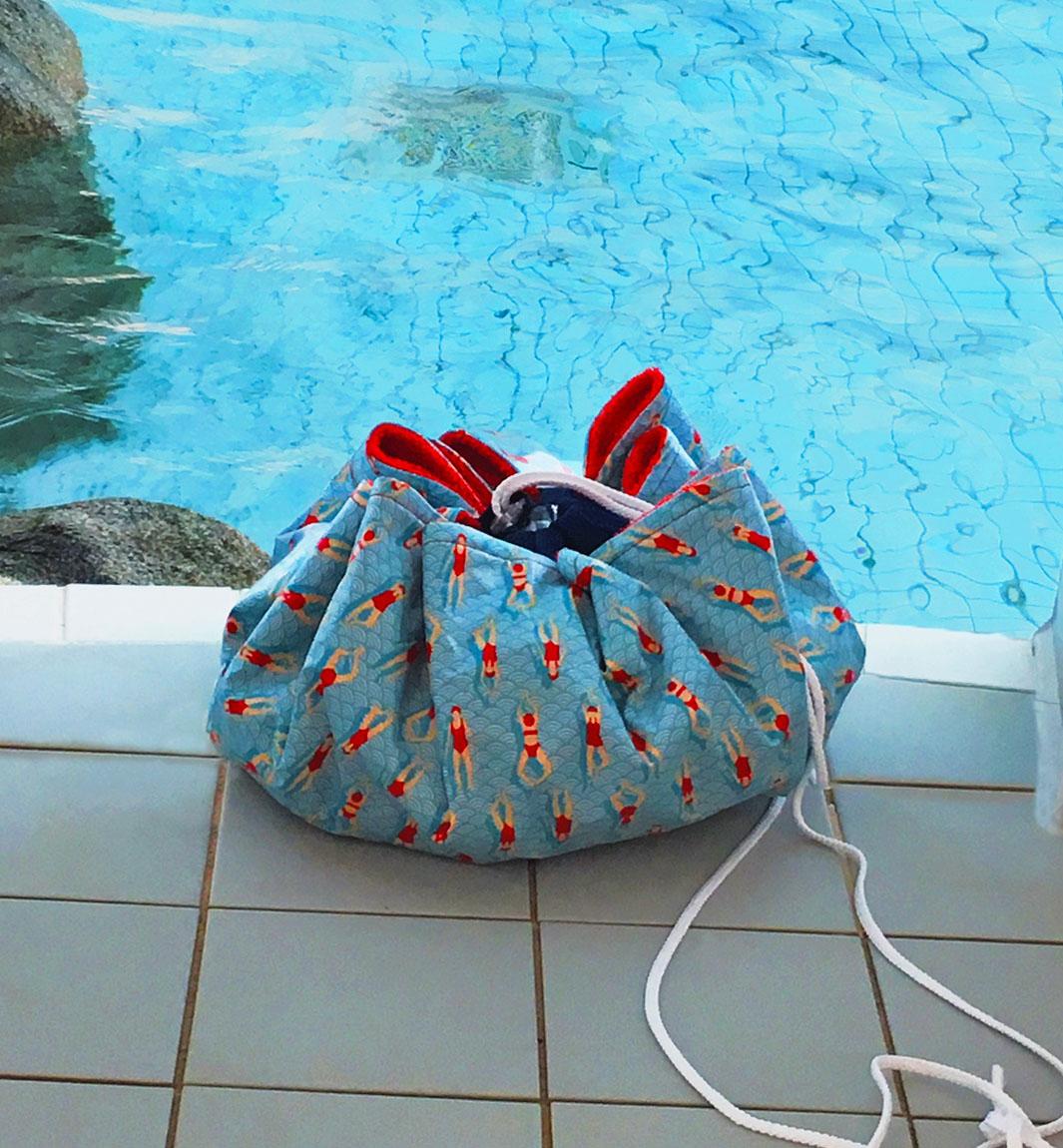 tuto baluchon de piscine pieds au sec