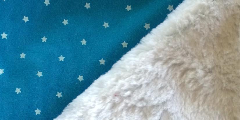 Molleton jogging étoiles et Tissu fourrure Orson
