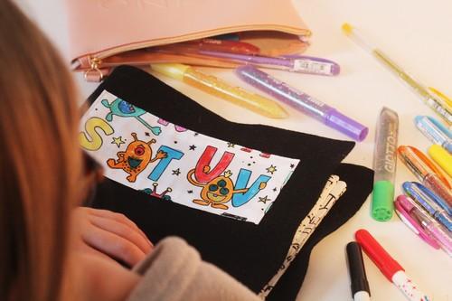 cahier à colorier en tissu