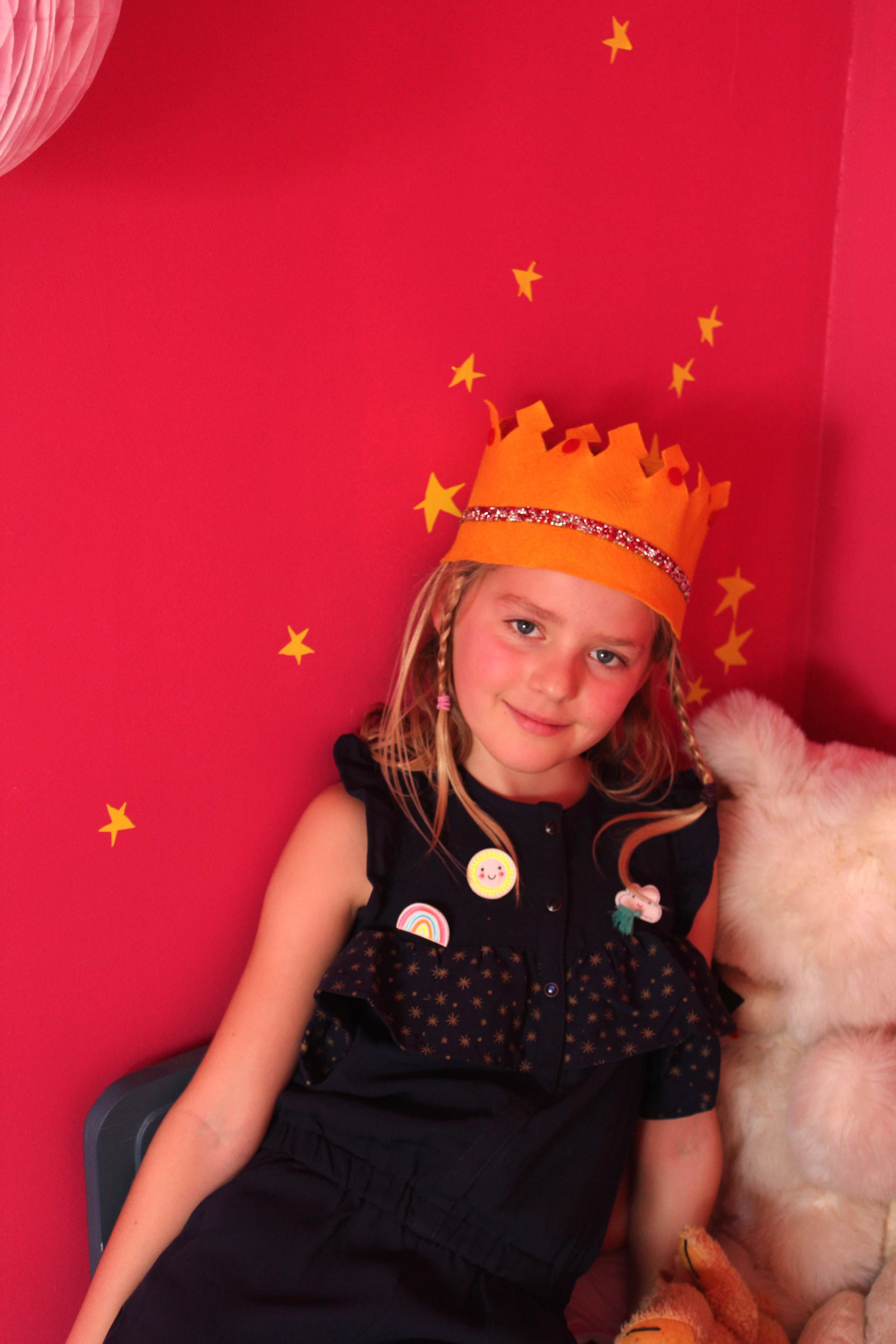 couronne en feutrine pour enfant