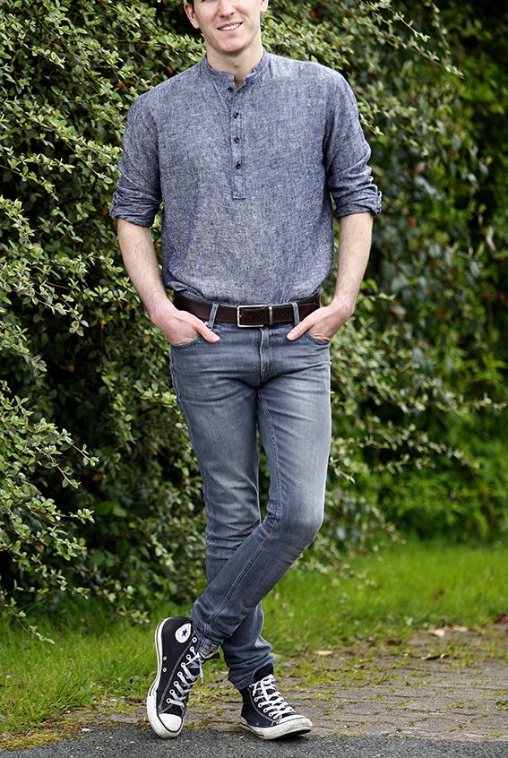 chemise effet jean
