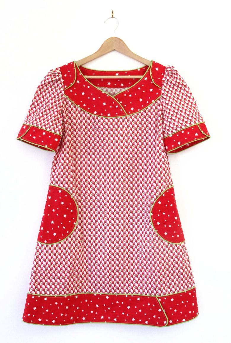 robe femme tissu rouge