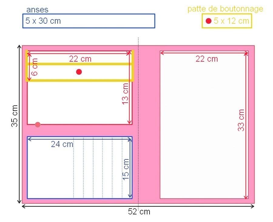 tuto couture la pochette dessin je fais moi m me. Black Bedroom Furniture Sets. Home Design Ideas