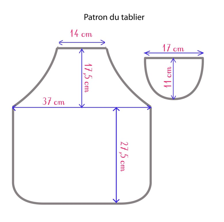 Tutoriel le tablier d 39 colier for Patron tablier de cuisine gratuit