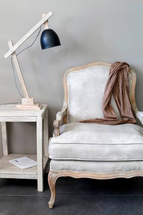 ancien fauteuil restauré