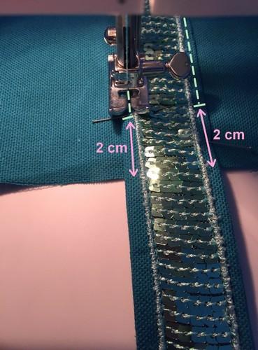 arreter la couture a 2 cm du haut