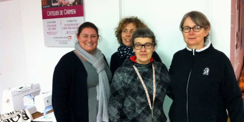Carmen et les participantes à l'atelier de Brest