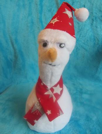 bonhomme de neige en tissu