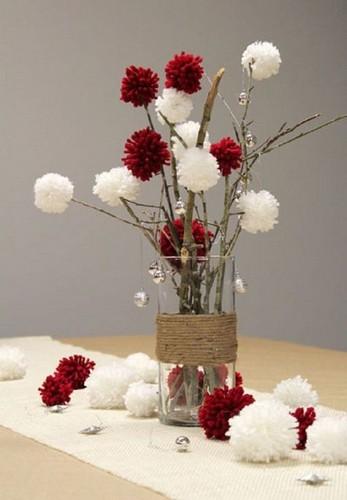 bouquet-de-noel-pompons-en-laine