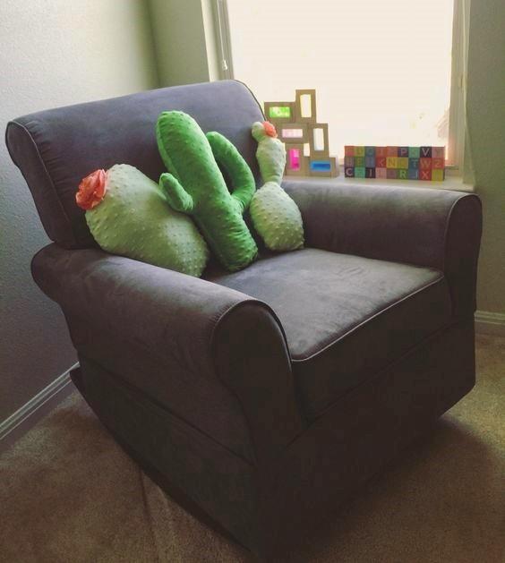 cactus en tissu minkee bulle