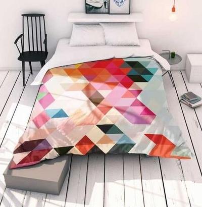 ensemble de lit tissu ameublement graphique