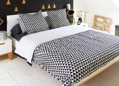 parure de lit scandinave maison design. Black Bedroom Furniture Sets. Home Design Ideas