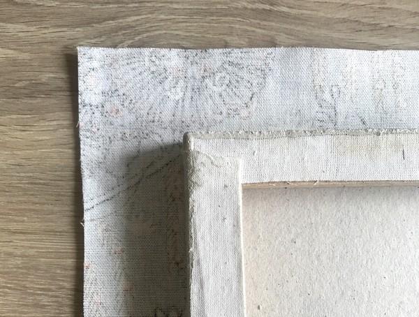 comment recouvrir un cadre avec un tissu