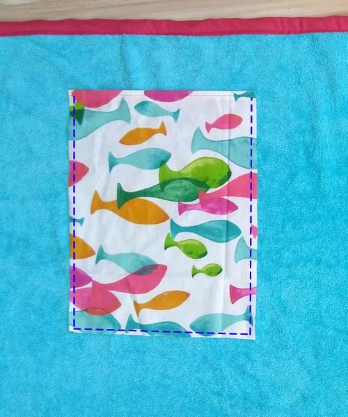 coudre les poches sur la serviette