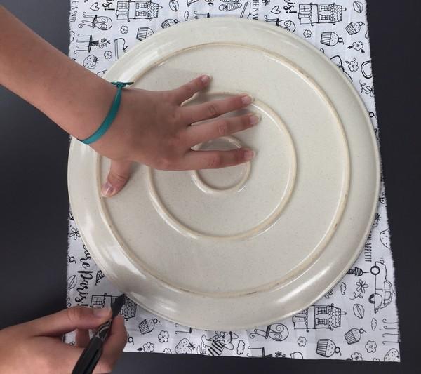 couper le cercle du baluchon a dessin