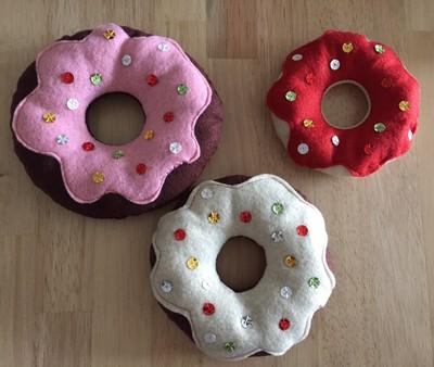 donuts avec nappage en feutrine