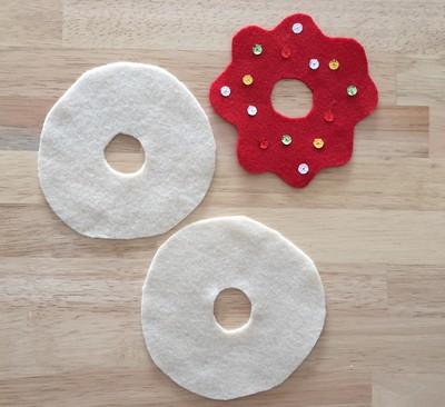 donuts en tissu