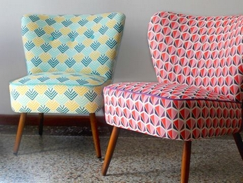 réfection fauteuil tissus ameublement graphiques