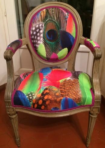 fauteuil louis 16 modernisé