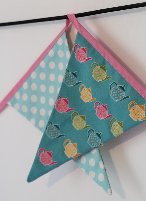 DIY girlande tissu patchwork