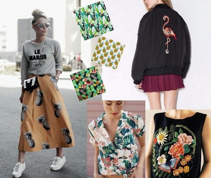 imprimés tendances mode tropiques