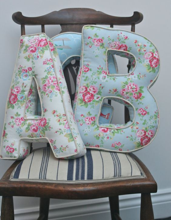 lettres en tissu
