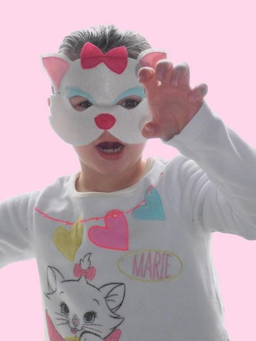masque chat en feutrine