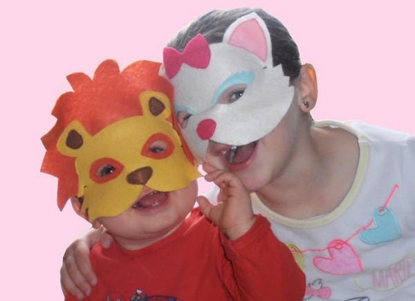masque en feutrine