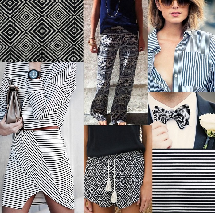 moodboard graphique rayure