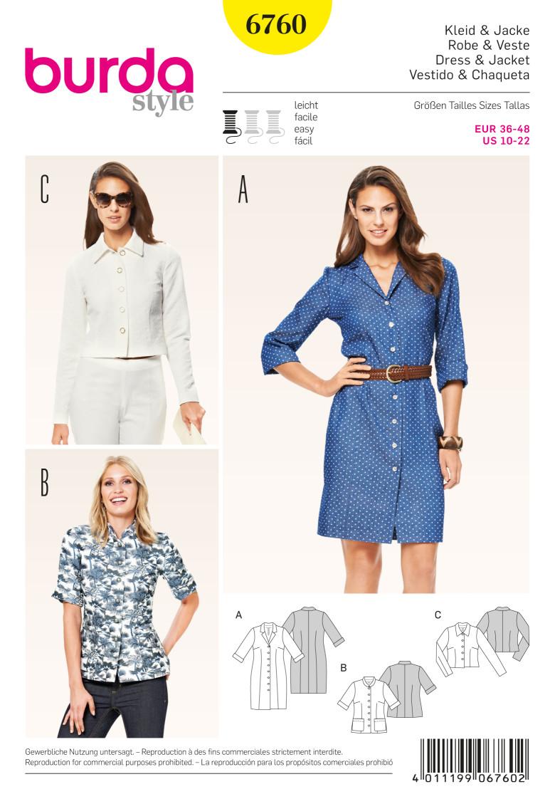 patron-burda-femme-robe-chemise-6760