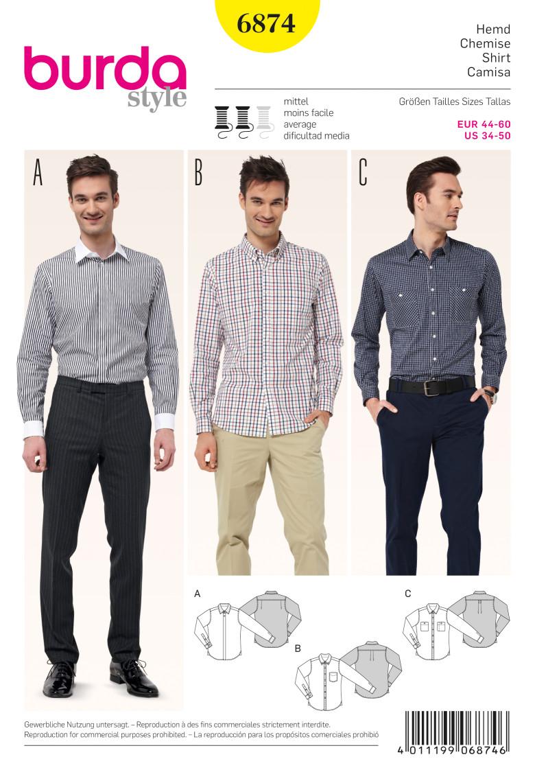 patron-burda-homme-chemise-6874