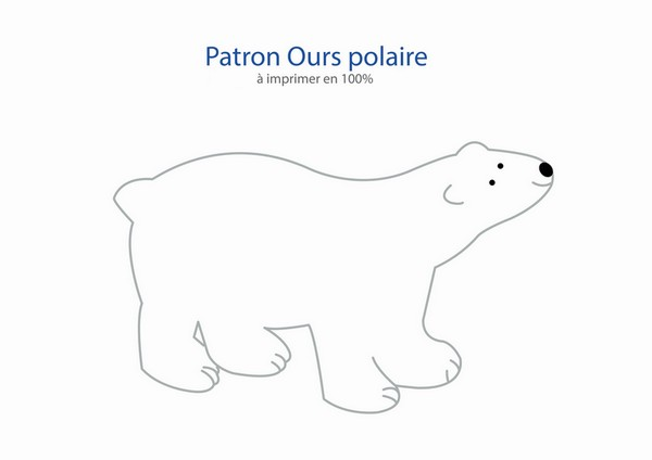 patron ours polaire