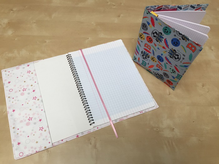 protege cahier en tissu pour la rentrée
