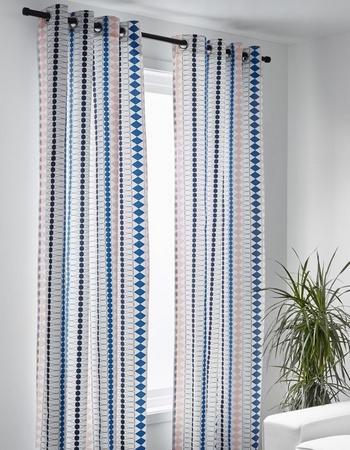 rideaux tissu géométrique