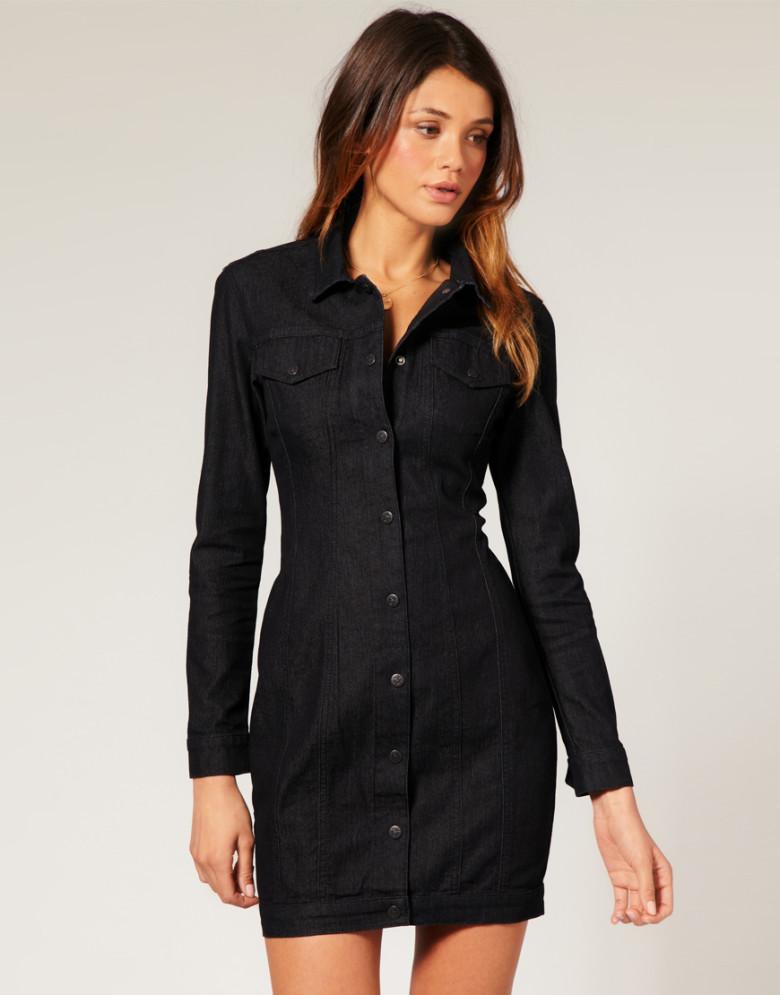 robe-chemise-noire