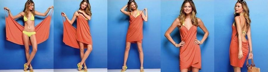 robe drapée paréo
