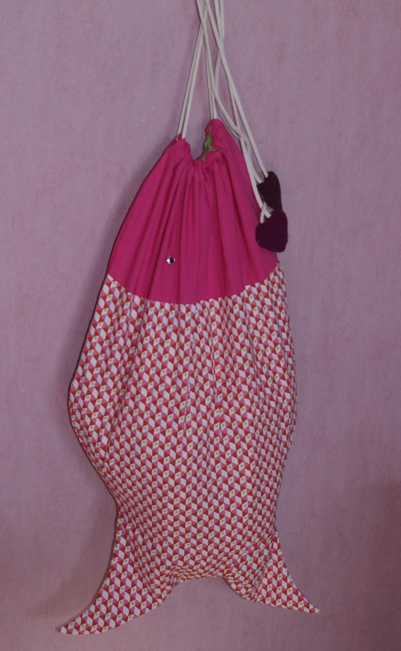 sac à linge poisson