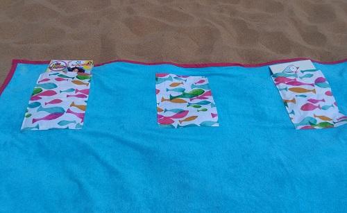 serviette de plage poches