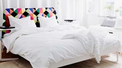 tête de lit en tissu graphique