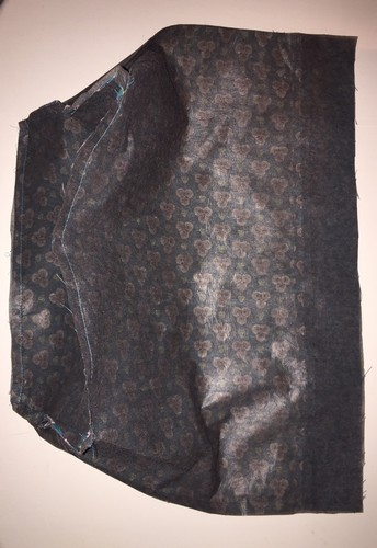 thermocoller et coudre le fond du sac