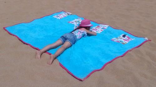 tuto serviette familiale pour la plage